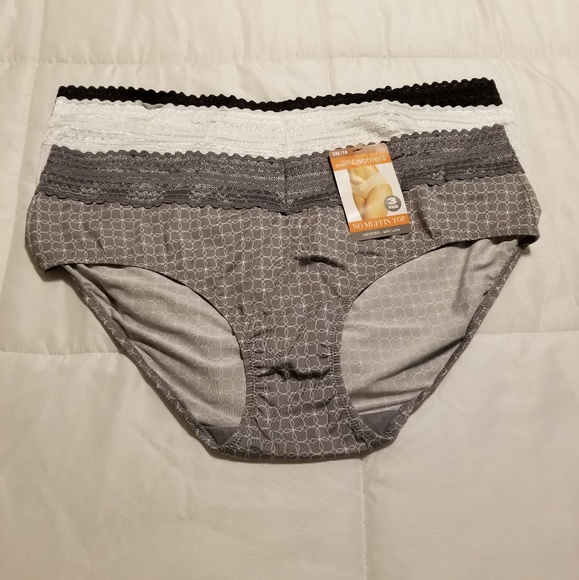 Warner's Other - 3 Pair of Warner's Blissful Benefits Lace Hipster